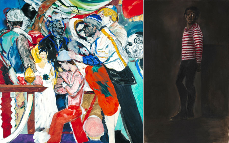 Left R.B. Kitaj - The Wedding, 1989-93 Right Lynette Yiadom-Boakye - 10pm Saturday, 2012
