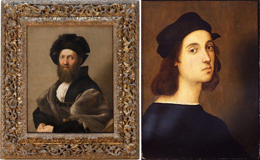 Left Raffaello - Portrait of Baldassarre Castiglione Right Raffaello - Self-portrait