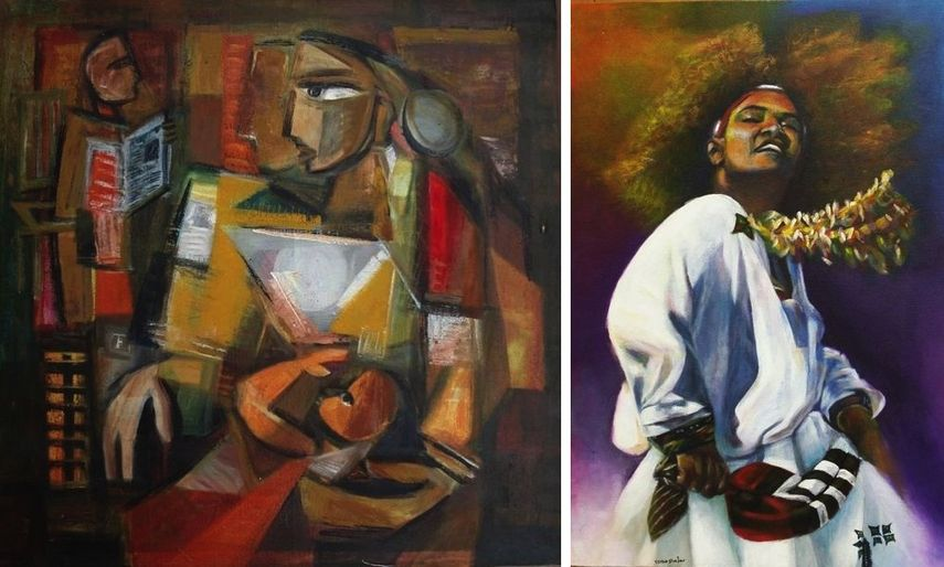 Raja Segar, Sanaa Merchant Eskista - Israa shajar; worldartdubai in dubai is an event not to miss