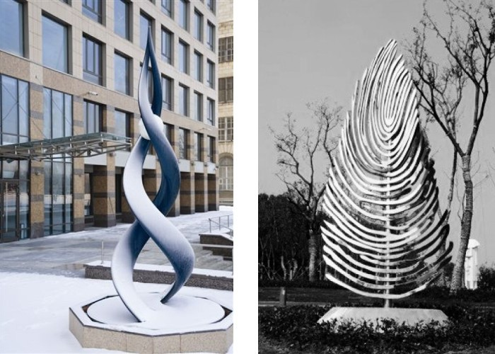 Left Ralfonso - Moving On UP - St. Petersburg, Russia, 2013, Right Ralfonso - Magic Tree - International Wuhu Sculpture Park, China, 2012, news KAO