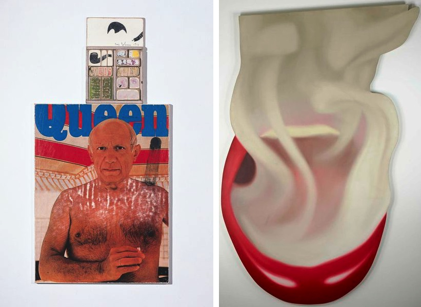 Ray Johnson, Untitled (Picasso Queen), 1973, Tom Wesselmann, Smoker #10, 1973