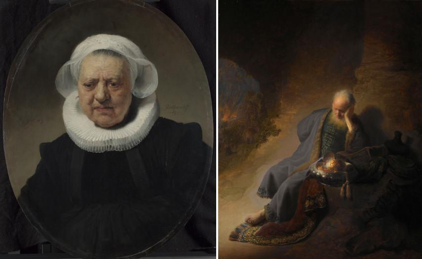 Left Rembrandt van Rijn - Portrait of an 83-Year-Old Woman Right Rembrandt van Rijn - Jeremiah