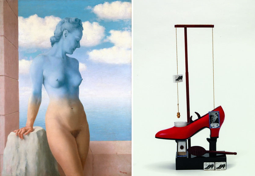 Left Rene Magritte - Black Magic Right Salvador Dali - Scatological Object