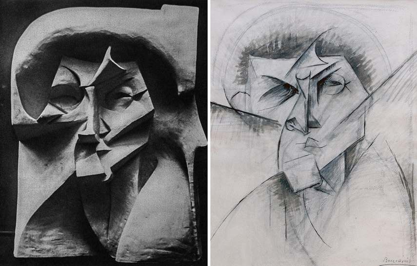 Umberto Boccioni - Empty and Full Abstracts of a Head Right Umberto Boccioni - Study for Empty and Full Abstracts of a Head