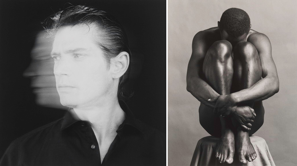 Left Robert Mapplethorpe - Self Portrait Right Robert Mapplethorpe - Ajitto