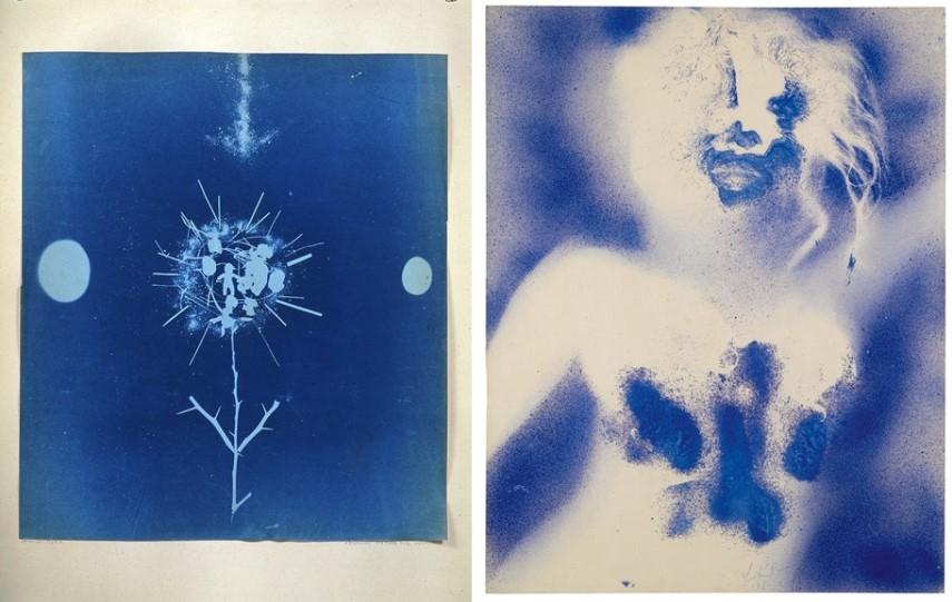Left Robert Rauschenberg - A Birthday Picture Right Yves Klein - La Marseillaise