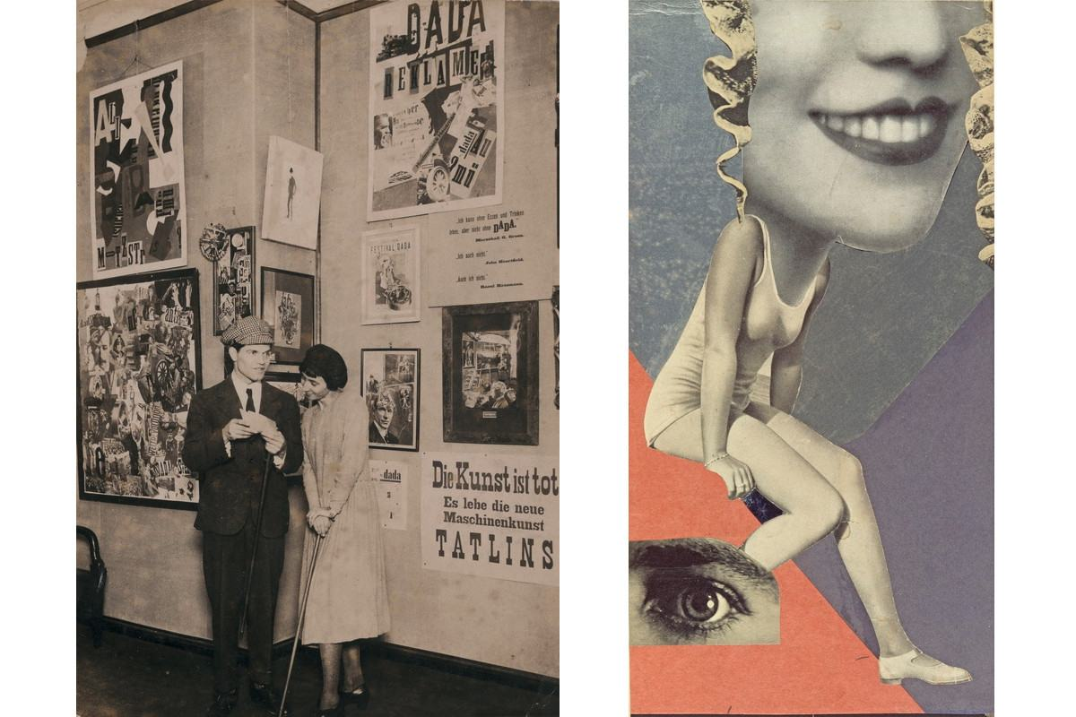Left Robert Sennecke - Hannah Hoch and Raoul Hausmann Right Hannah Hoch - Fur ein Fest gemacht