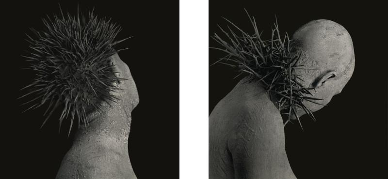 Left: Roberto Kusterle - Mutazione silente #1 / Right: Roberto Kusterle - Mutazione silente #2 - Mutazione silente series