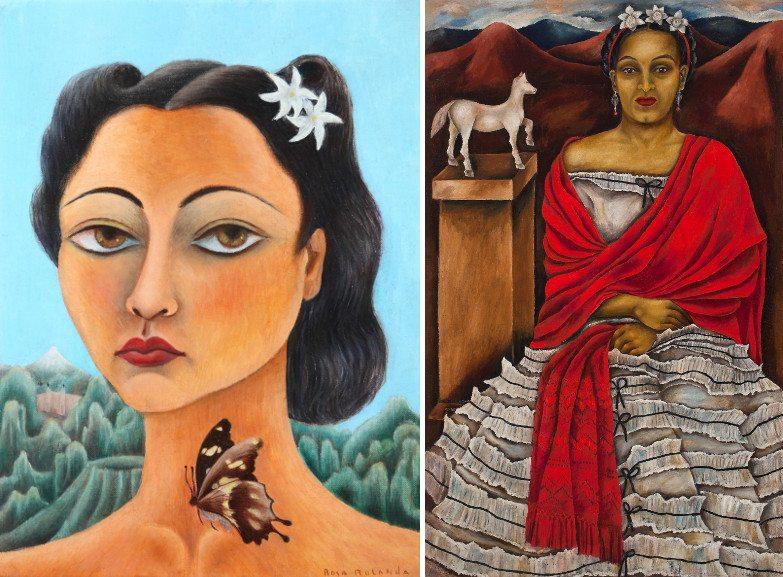 Left Rola Rolanda - Self portrait Right Maria Izquierdo - Self portrait