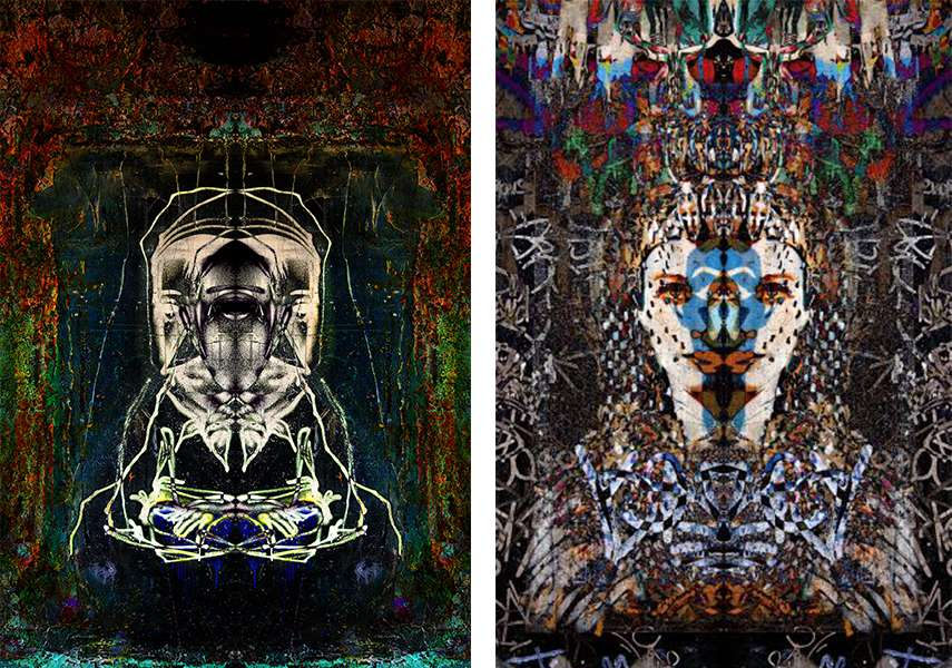 Left - Roman Koenig - Recessed Portrait, 2015 - Right - Roman Koenig - Memories of Egypt, 2016