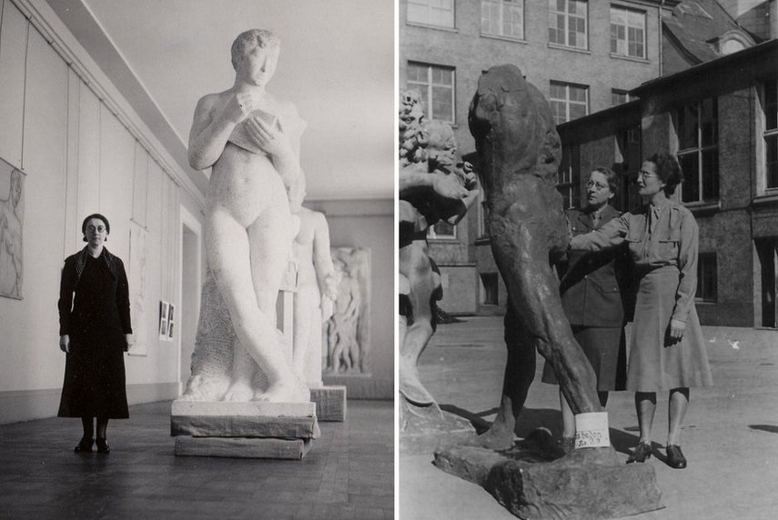 Left Rose Valland at Museo Jeu de Paume Right Edith Standen and Rose Valland