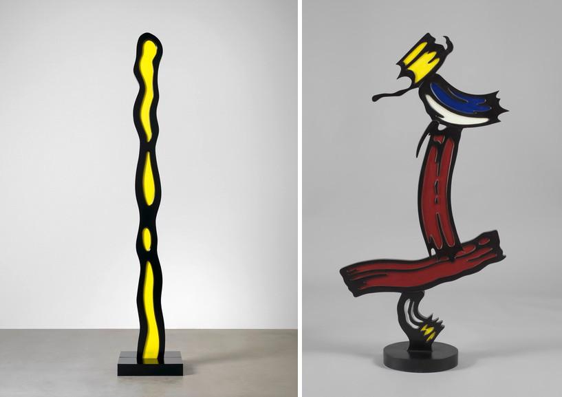 Left Roy Lichtenstein - Endless Drip Right Roy Lichtenstein - Brushstroke