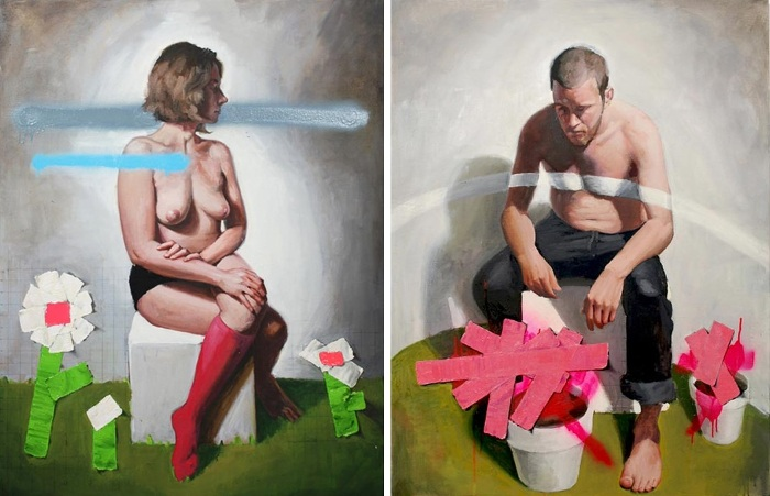 Left Russ Noto - Beauty and Violence No. 1, 2012 Right Russ Noto - Beaury and Biolence No. 2, 2012 - Copyright Russ Noto