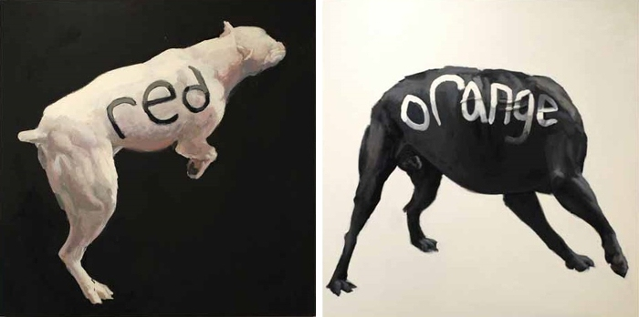 Left Russ Noto - Dog 1, 2011 Right Russ Noto - Dog 2, 2011 - Copyright Russ Noto