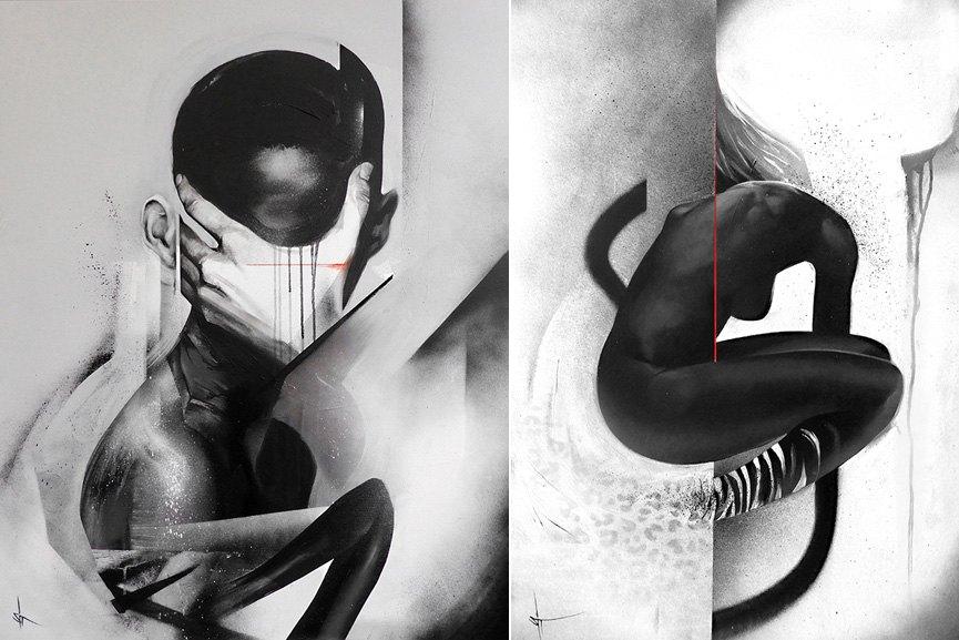 Left SIT -  haiiro noir shop 2012 killer sold acrylic haiiro work