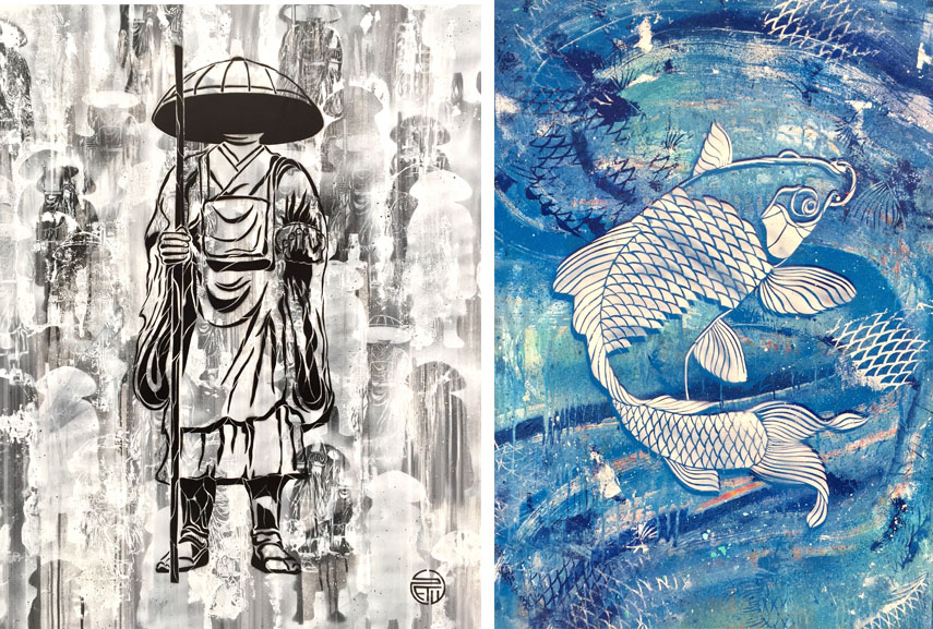Left Jizo I (L ghost serie) Right Bluekoi