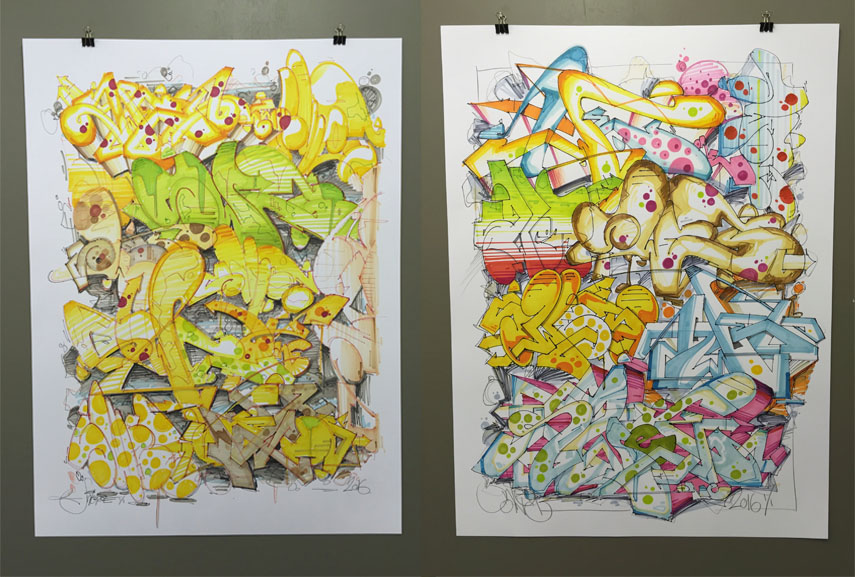 together with molotow magazine, swet released a book of his graffiti