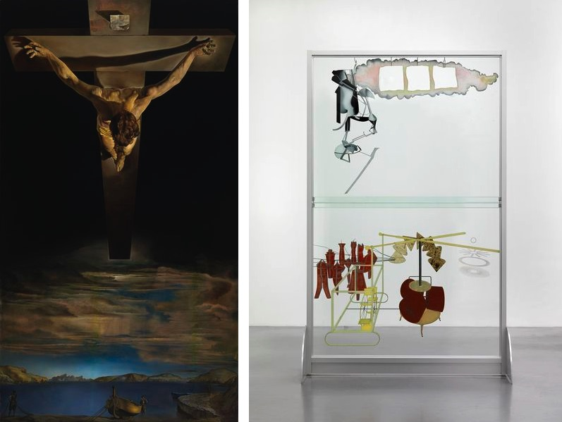 Salvador Dalí - Christ of Saint John of the Cross, c. 1951, arcel Duchamp (reconstruction By Richard Hamilton) - The Bride Stripped Bare by Her Bachelors, Even (The Large Glass), 1915