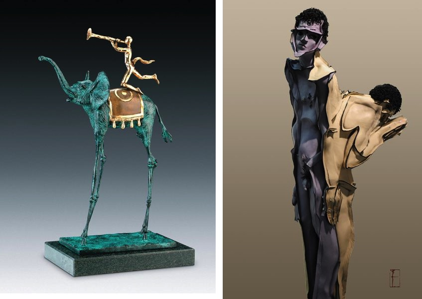 Salvador Dalí - Triumphant Elephant, Wang Liwei - Or No Me or Nothing No.2 at 2018 edition of Asia Contemporary Art Shows