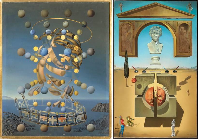 Left Salvador Dali - Maximum Speed Right Salvador Dali - Dematerialization