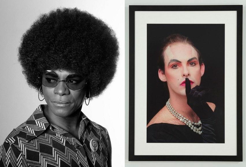 Left Samuel Fosso – Self –Portrait Right Hunter Reynolds - Shhh (from Patina du Prey Pose Series)