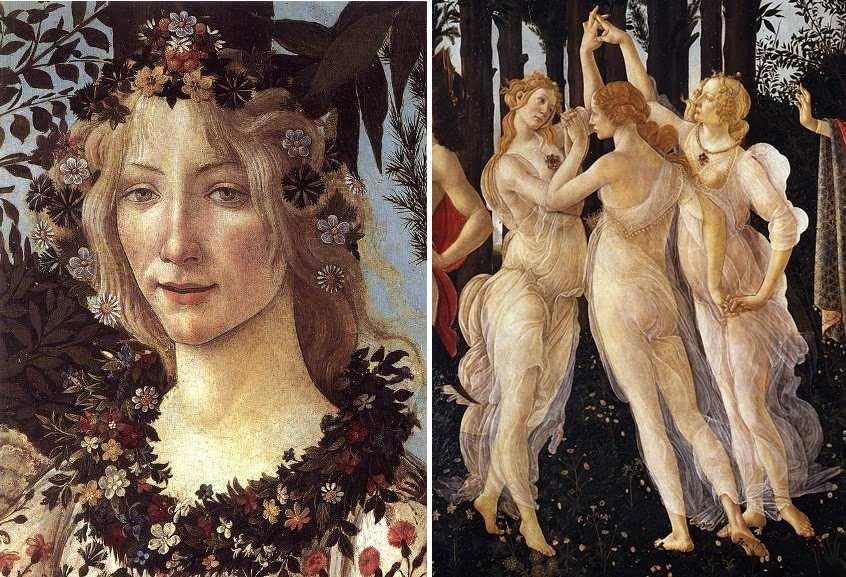 Left Botticelli - Flora Right Botticelli - Three Graces