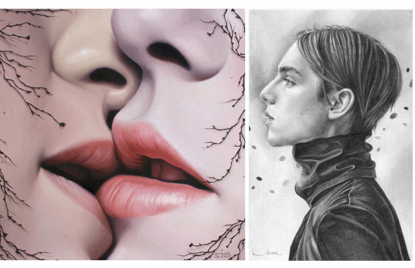 Left Sarah Joncas, Entwine Right Kaspian Shore - In the West,