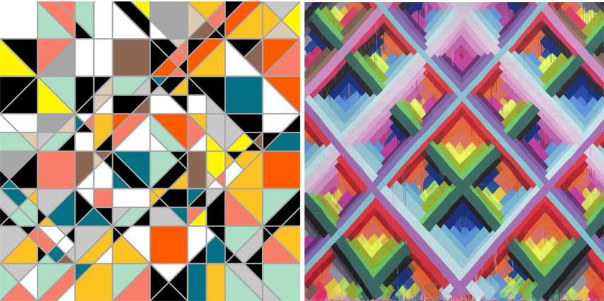 Famous Line Artists Names : Geometric abstract art today the return to angular