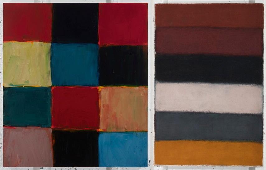 Left Sean Scully - Robe Blue Blue Durrow Right Sean Scully - Landline
