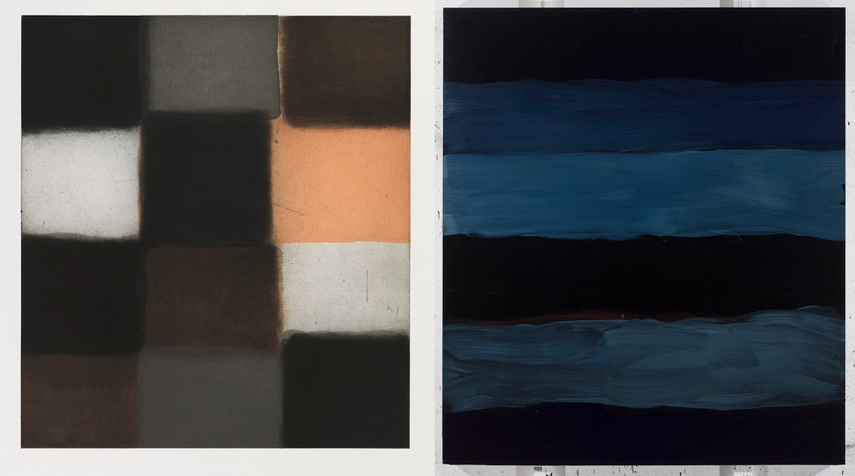 Left Sean Scully - Shade Right Sean Scully - Landline poo