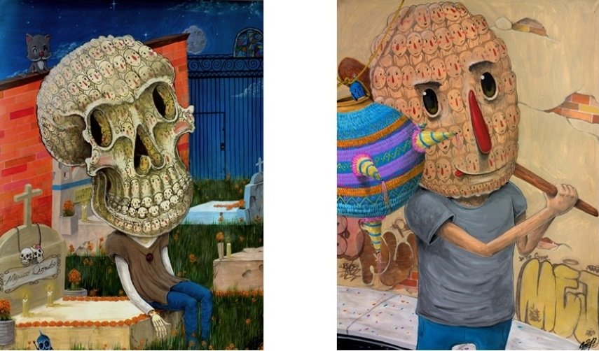 Left: Sens – Mexico que herido / Right: Sens – Piñata, 2015