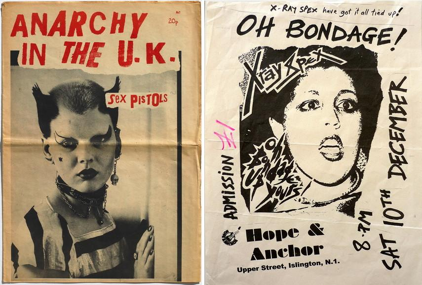 Left Sex Pistols Anarchy in the UK Right X-Ray Spex Hope and Anchor