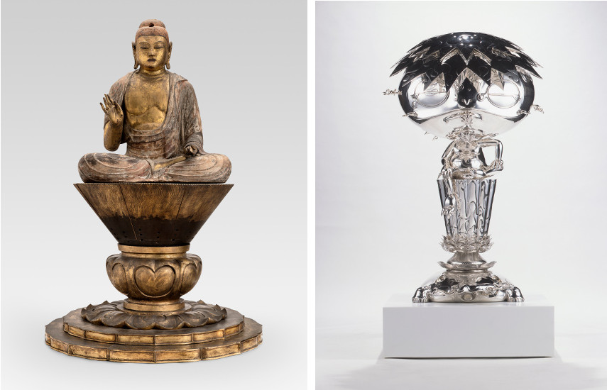 Shaka, the Historical Buddha / Takashi Murakami - Oval Buddha Silver