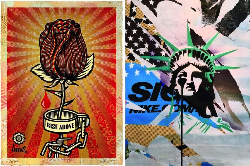 Shepard Fairey aka Obey - Rose Shackle, 2019, Pure Evil