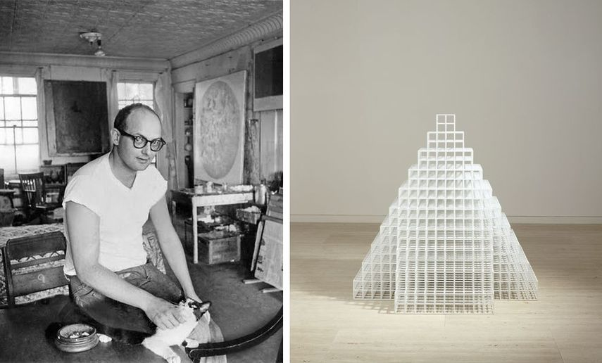 sol lewitt created a new conceptual aesthetics for his abstract work.