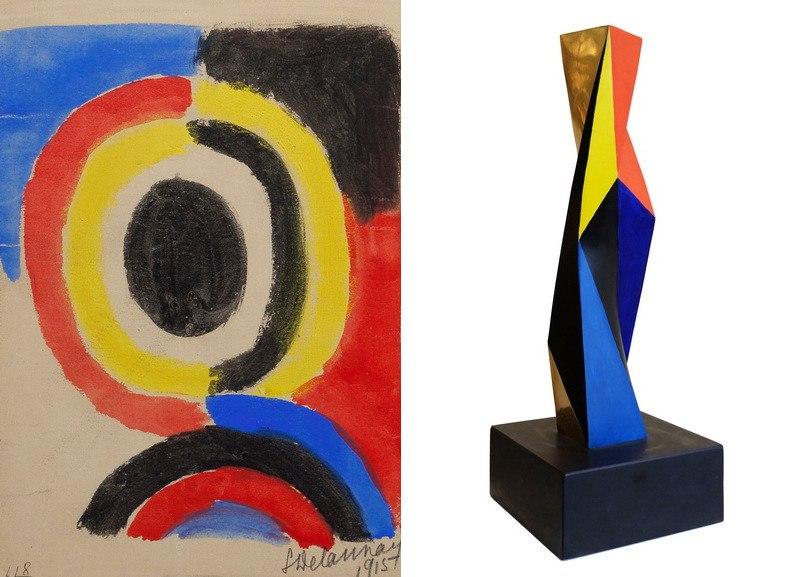 Left Sonia Delauney - Disque Right Anton Prinner - Colonne