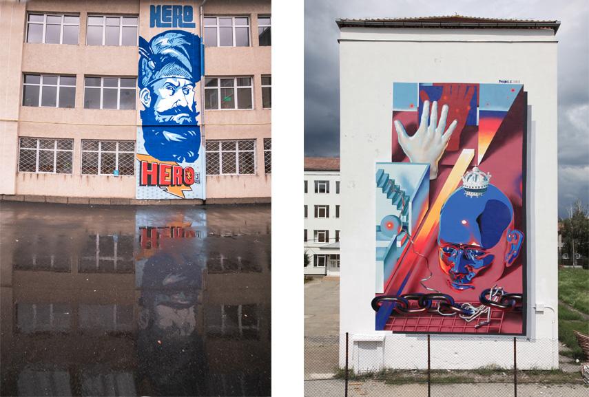 Left Spoitoru' 1989 - Mihai Viteazul Right Pandele - Preparing my good-bye wave