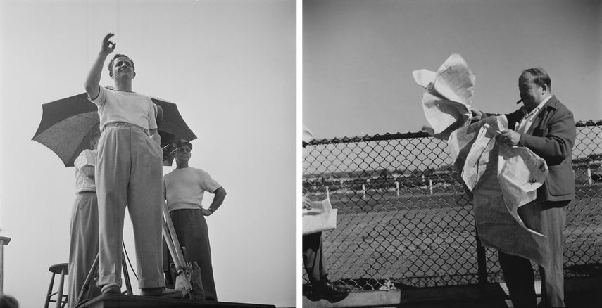 Stanley Kubrick, left - Director Jules Dassin from Naked City, 1947 right - from The Races, Fashions, 1948