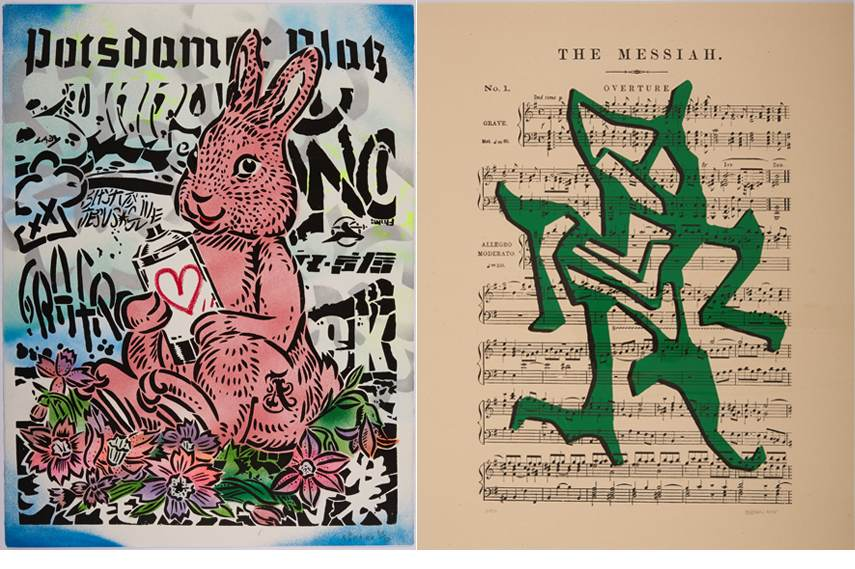 Left Stikman - Overture, 2015 Right AIKO - Bunny, 2015