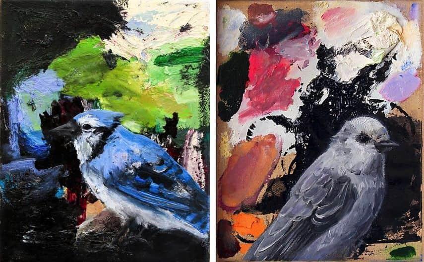 Susan Breen - Blue Jay, 2016, Gray Jay, 2016