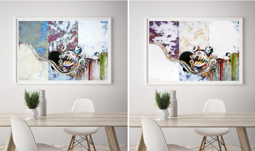 Left Takashi Murakami - 727x777 Right Takashi Murakami - 727772 kiki eyes home sold print