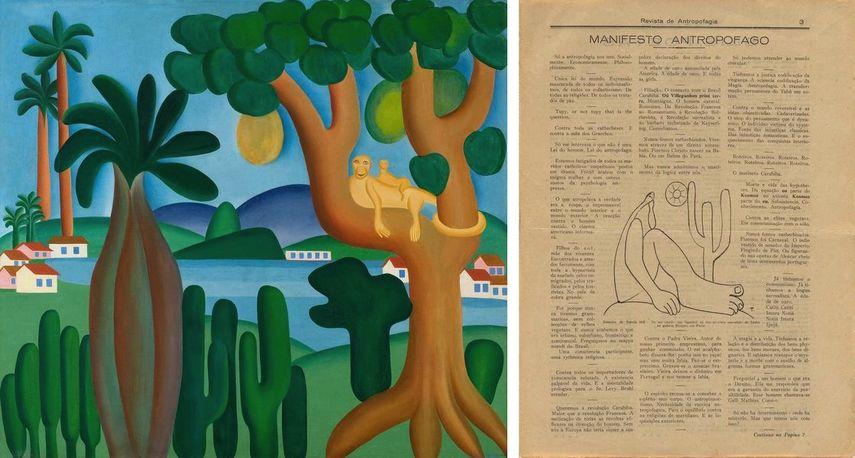 Postcard (Cartão-postal), 1929, Oswald de Andrade (Brazilian, 1890–1954) with drawing by Tarsila do Amaral.