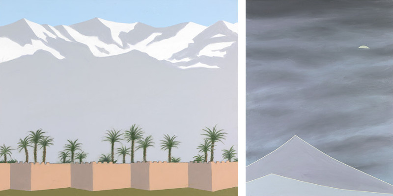 Left Terence Netter - Twilight in Marrakech, 2015, Right Terence Netter - Mount Moriah, 2015