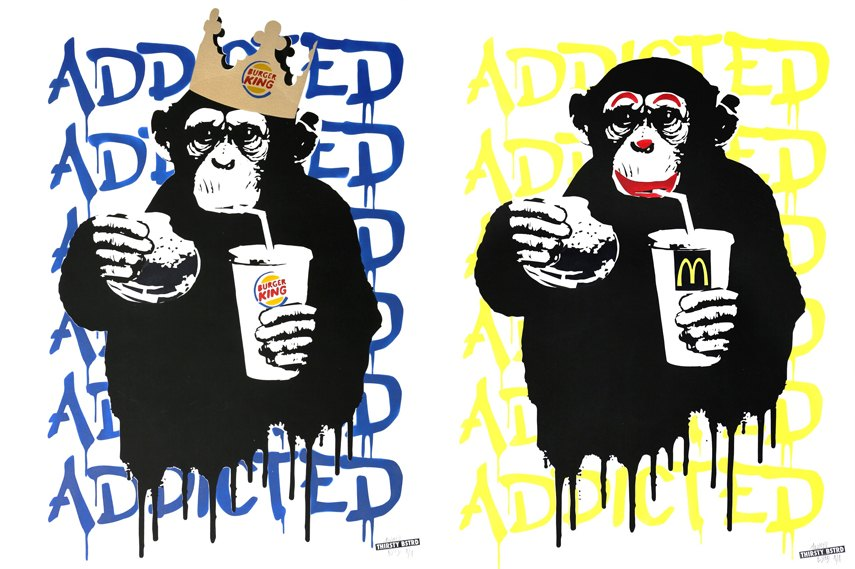 New print by Paris based artist Thirsty Bstrd
