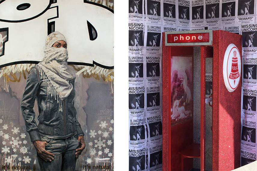 Left: Tim Okamura - I.D / Right: Camomile Hixon - Reward for a unicorn nyc world 617 geladen 2014
