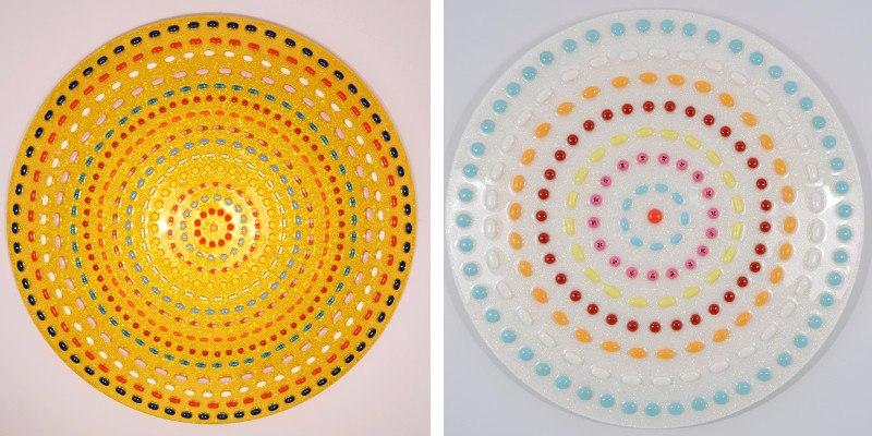 Left Tina La Porta - Circles Of Obsession 1, 2014, Right Tina La Porta - Circles Of Obsession In Small Doses, 2014