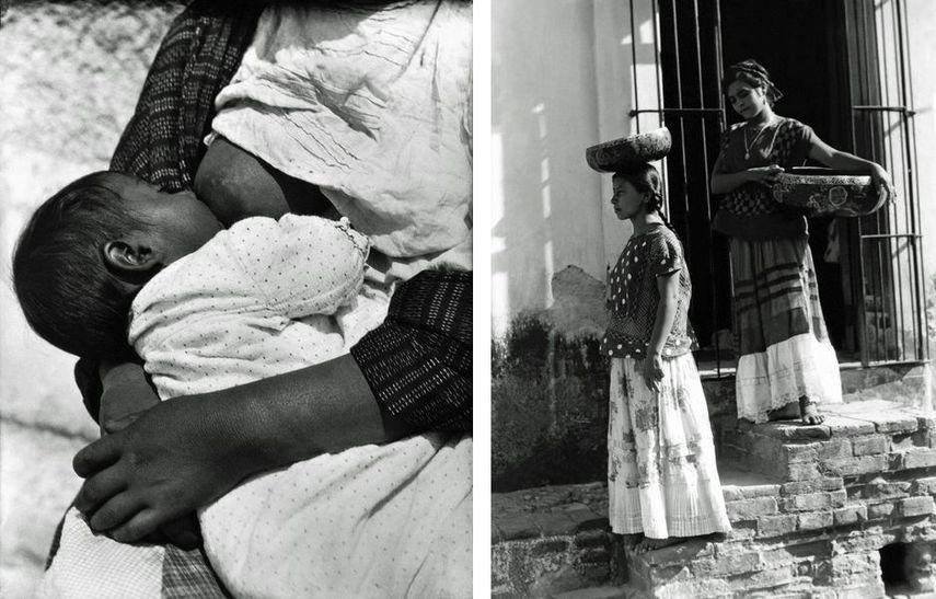 Tina Modotti - Breastfeeding a Baby, Mexico D.F., 1926, Tina Modotti - Tehuantepec Women With Baskets, Mexico, 1929, after Weston