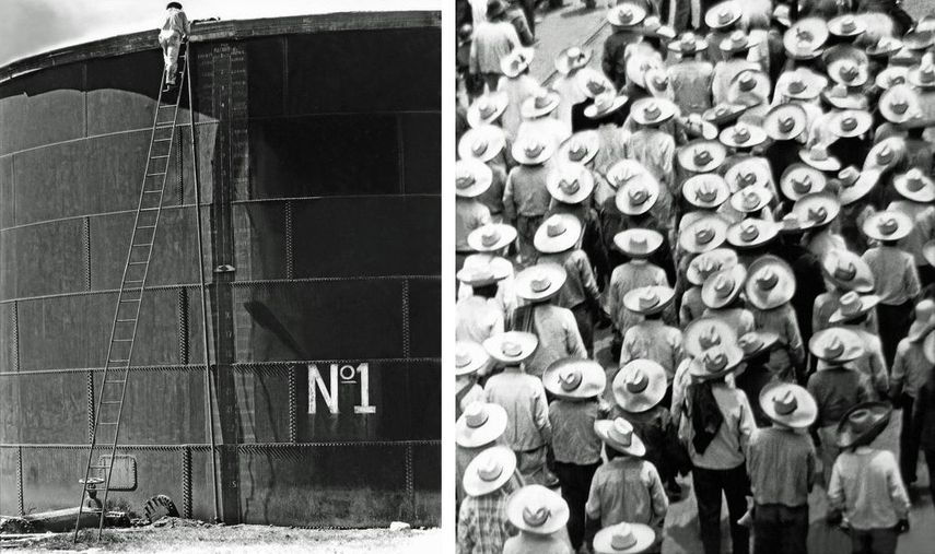 Tina Modotti - Tank Number 1, Mexico City, 1927, Tina Modotti - March of the Workers, Mexico D. F., 1926.