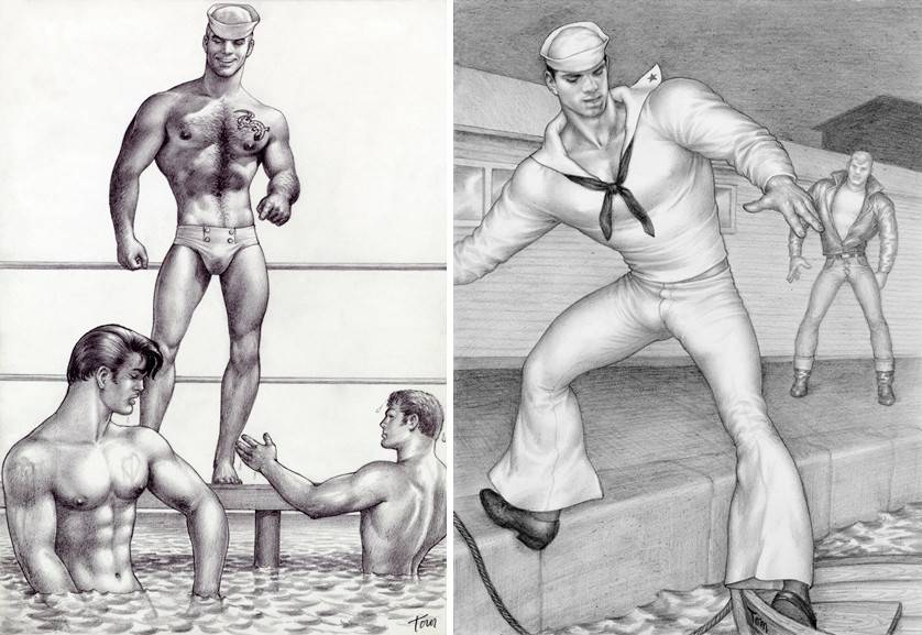 Left Tom of Finland - Untitled Right Tom of Finland - Untitled