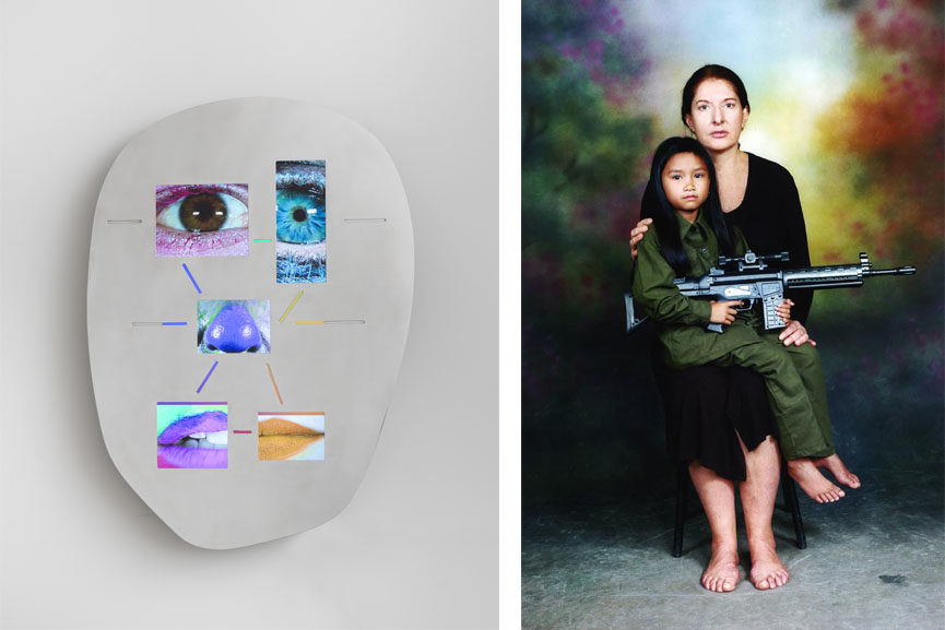 Left Tony Oursler - Not yet titled, 2015 Right Marina Abramovic - The Family A